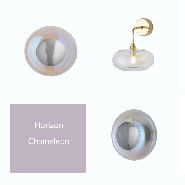 Horizon Iridescent Collection with Gold and Silver Metal Options