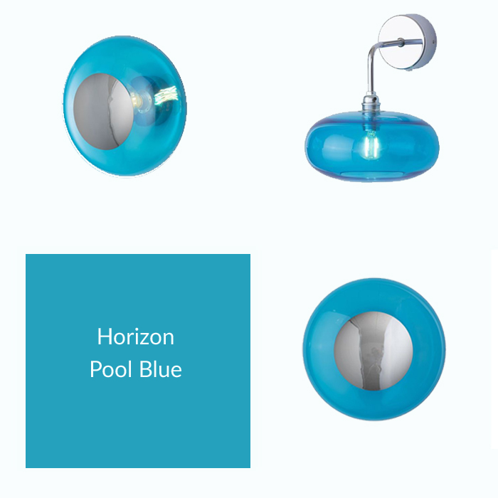 Horizon Pool Blue Collections with Silver Metallic