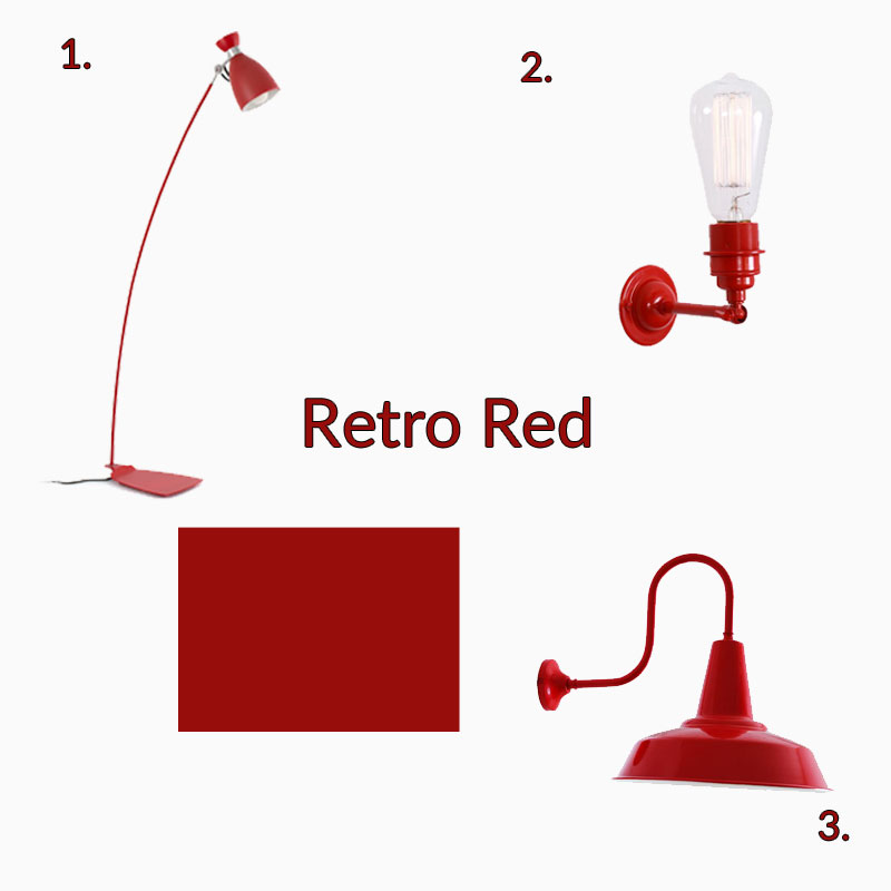 retro bright red designer collection lighting