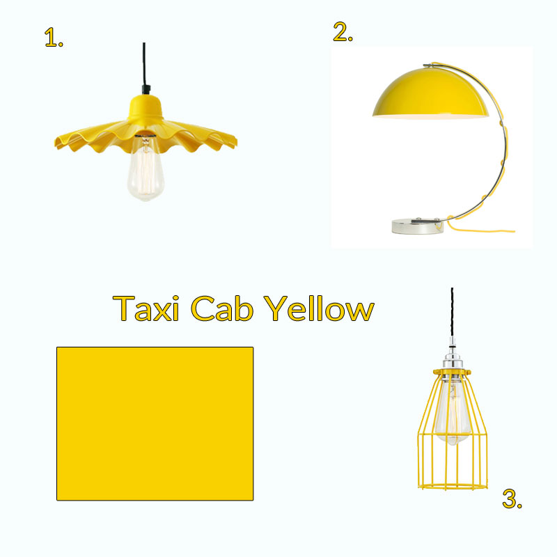 taxi cab yellow lighting fun retro style lighting collection