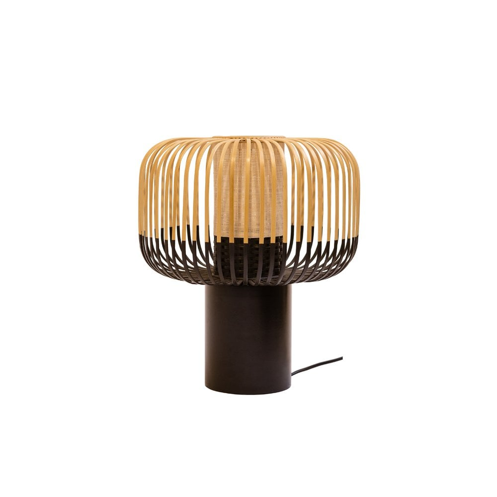 Tall Bamboo Table Lamp Natural And Black Designer Lighting Uk Wiring Modern