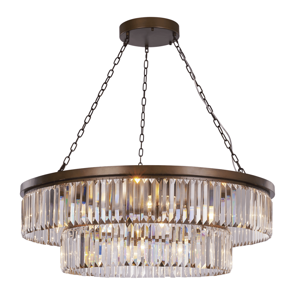 US $373.6 20% OFF|Modern black chandelier lighting living room bedroom dining room round crystal hanging lamp home decor light fixtures|Chandeliers|