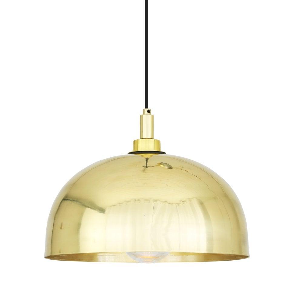 Hydra 30cm bathroom dome pendant polished brass