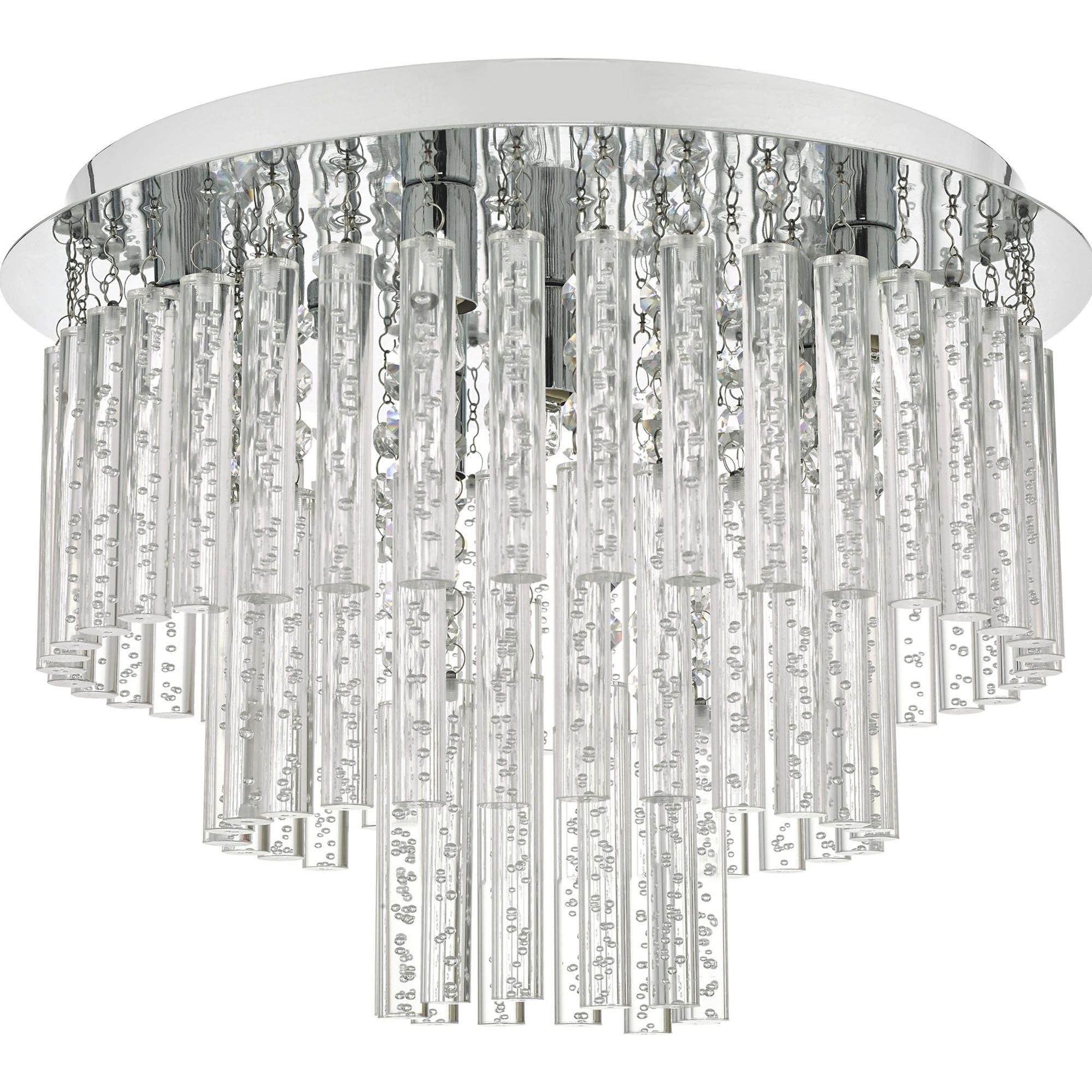 Chrome And Clear Glass Modern Bubble Lighting Chandelier