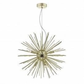Gold Starburst Ceiling Pendant Designer Lighting Company Uk