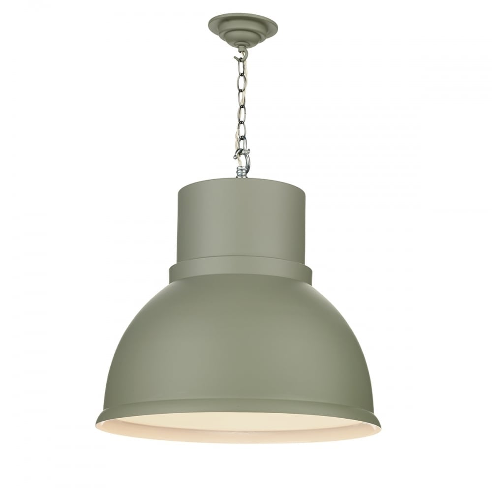 new arrival 87cf3 b6d3f SHOREDITCH Extra Large Ceiling Pendant Painted in Powder Grey