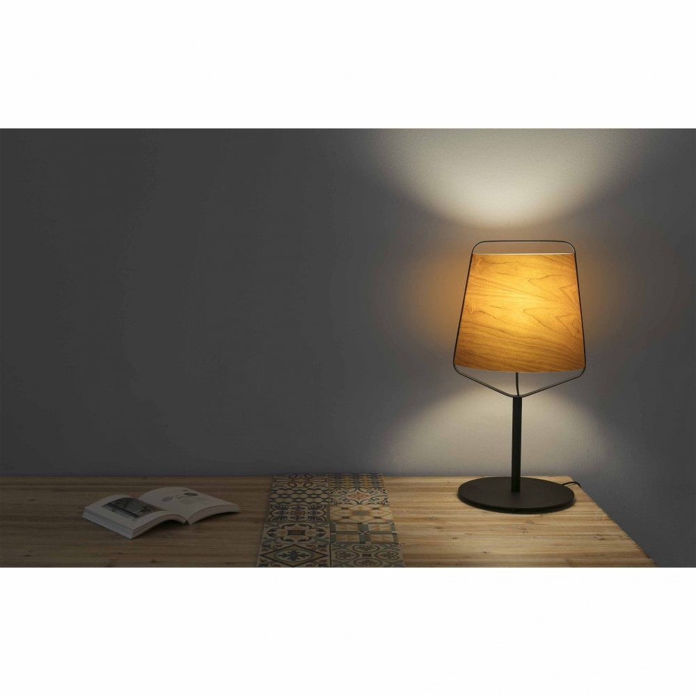 STOOD Cherry Tree Wood Table Lamp