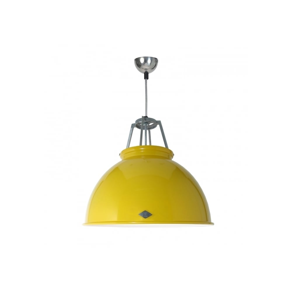 TITAN Large Industrial Ceiling Pendant Yellow