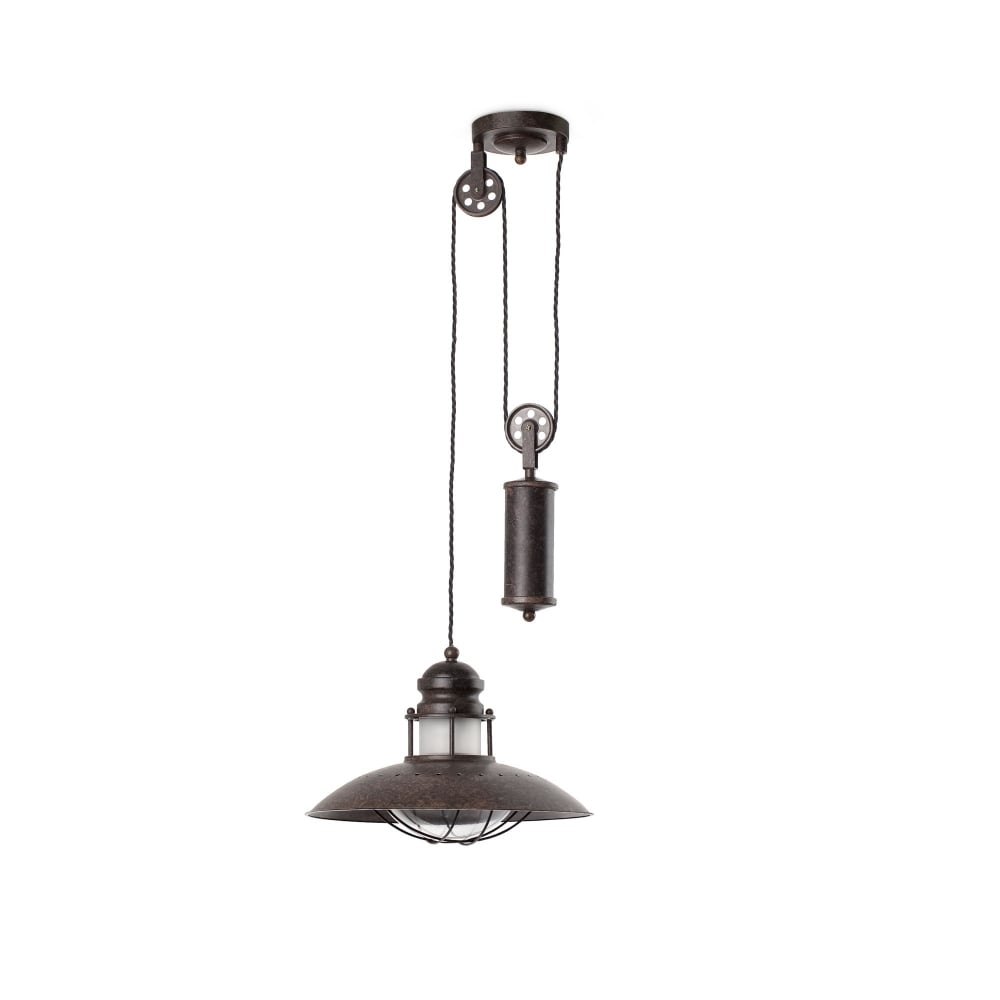 Winch brown pendant lamp adjustable